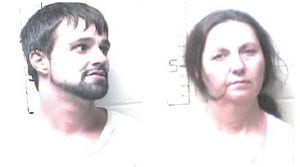 MAN AND WOMAN CHARGED IN MURDER – Dedra Keathley and Clifford Caudill are charged with murder and tampering with physical evidence in the death of 44-year-old Ricky Allen Gibson at Neon. Caudill, pictured in a prison mug shot, has a long history of convictions and suspended sentences.
