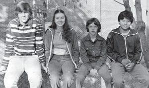The freshmen class officers are (left to right) President Mark Cornett, Vice-President Pam Brashears, Secretary Andy Cates, and Treasurer Ephraim Imperial.