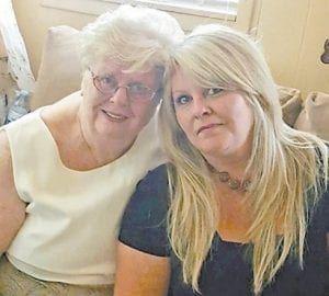 Jane Kincer Mullins is pictured with her daughter, Lindy Mullins Yonts.