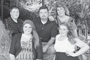 Christopher Edward and Celesta Riffe with their three children Colton Christopher Riffe, Corrissa Makaih Riffe, and Cassity June McCool-Solis.
