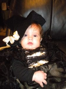 Ayla Hinkle celebrated her first Halloween. She is the daughter of Russell Hinkle and Malori Cook. Her grandparents are Mike and Betty Cook and Russell and Diana Hinkle. Great-grandparents are Alma Caudill and Maggie Cook.