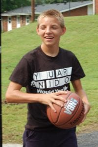Mikey Sexton played basketball at the court located at the Whitesburg Housing Authority.