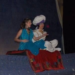 Kendra Lewis (Jasmine) and Paul Sokolowich (Aladdin) traveled on a magic carpet ride.