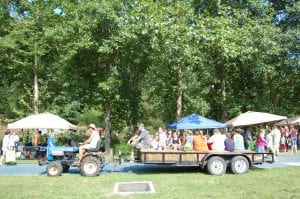 Children and adults enjoyed a hayride at the Letcher County Kids' Day Back to School Bash at River Park in Whitesburg on July 29.