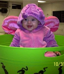 FIRST HALLOWEEN — Arieana Jade Brown is the daughter of Jordan Paige Collier and James Brown of Jenkins. She is a granddaughter of Christy Collier of Neon.